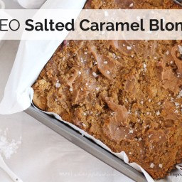Salted Caramel Paleo Blondies