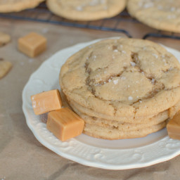 Salted Caramel Brown Butter Sugar Cookies