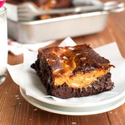Salted Dulce de Leche Brownies