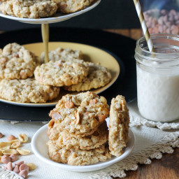 Salted Peanut Butterscotch Oatmeal Cookies