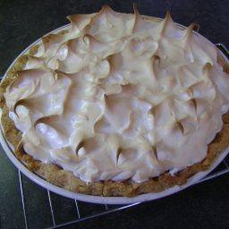 Saskatoon Meringue Pie