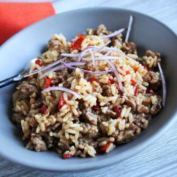 Sausage and Pepper Dirty Rice