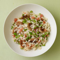 Sausage, Green Bean & Tomato Rice