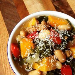 Sausage, Kale and Butternut Squash Soup