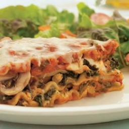 Sausage, Mushroom and Spinach Lasagna