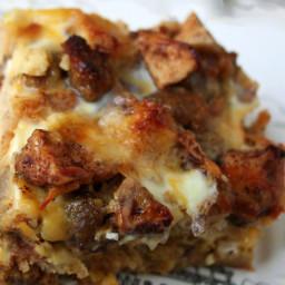 Sausage & Spiced Apple Breakfast Casserole