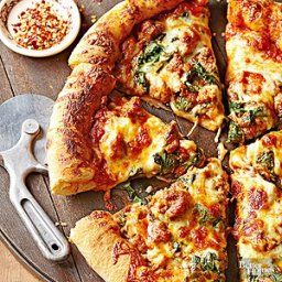 Sausage and Spinach Skillet Pizza