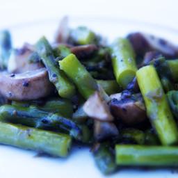 Sautéed Asparagus & Mushrooms