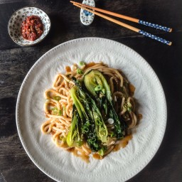 Sauté of Baby Bok Choy and Udon Noodles