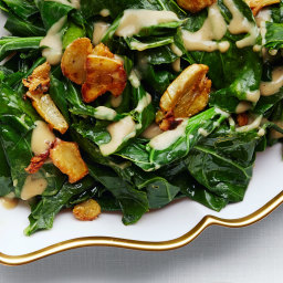 Sautéed Collard Greens with Caramelized Miso Butter