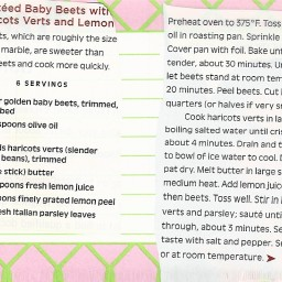 Sauteed Baby Beets with Haricots Verts and Lemon