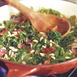 Sautèed Kale with Pancetta
