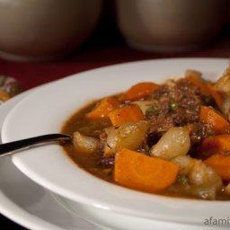 Savory Beef Stew with Dumplings