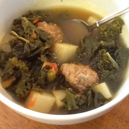 Savory Kale and Meatball Stew