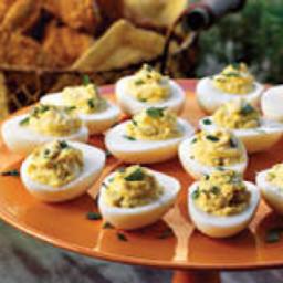 Scallion Stuffed Eggs