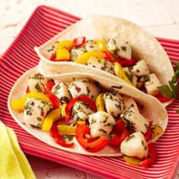 Scallop and Pepper Tacos