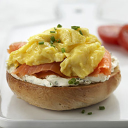 Scrambled Eggs & Lox Breakfast Bagels