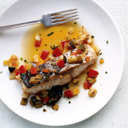 Sea Bass with Marinated Vegetables
