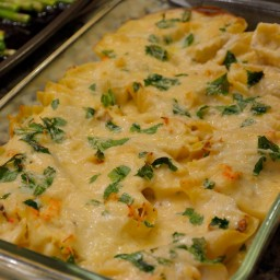 Seafood Stuffed Shells in a Sherry Cream Sauce