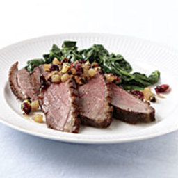 Seared Duck Breasts with Pear-Bourbon Relish