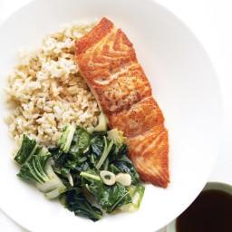 Seared Salmon and Greens