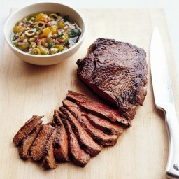 Seared Sirloin Steak with Onion Relish