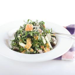 Seared Tunawith Black Tuscan Kale Salad