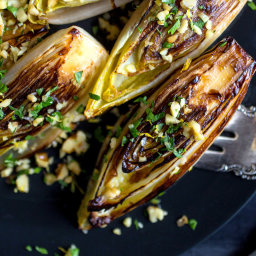 Seared Belgian Endive With Walnut Gremolata
