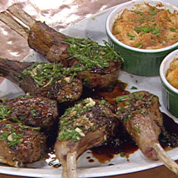 Seared Petite Lamb Chops with Rosemary Balsamic Reduction