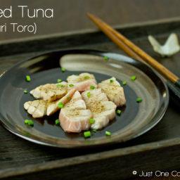 Seared Tuna Sashimi (Aburi Toro)
