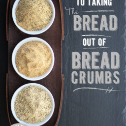 Seasoned Bread Crumbs (Gluten Free and Vegan)