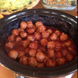 Semi homemade crockpot meatballs