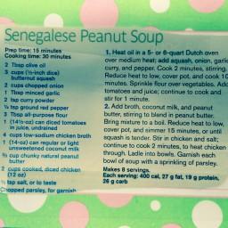 Senegalese Peanut Soup