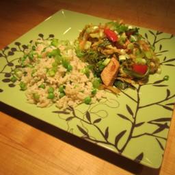 Sesame Chicken and Napa Cabbage Stir-Fry