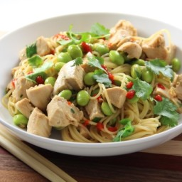 Sesame Noodles with Chicken and Edamame