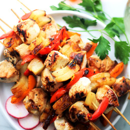 Sesame Soy Pineapple Chicken Kabobs
