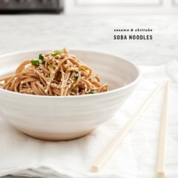 sesame and shiitake soba noodles