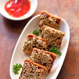sesame veg toast recipe
