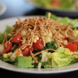 Seven-layer Salad with Ginger Vinaigrette