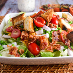 Seven-Layer Salad with Parmesan Ranch Dressing