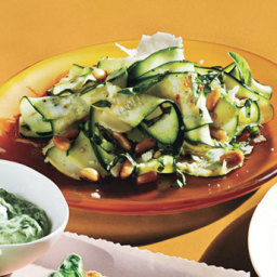 Zucchini and Tomato Salad with Parmesan and Walnuts
