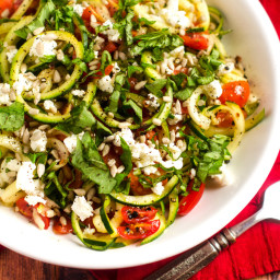 Shaved Zucchini Salad with Tomatoes and Goat Cheese