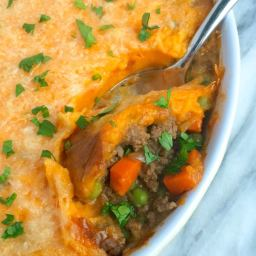 Shepherd's Pie with Whipped Sweet Potatoes
