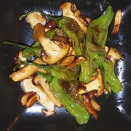 Shishito Pepper with mushrooms