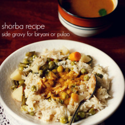 shorba recipe for biryani - side gravy recipe for biryani and pulao
