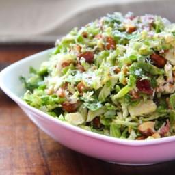 Shredded Brussels Sprout Salad with Citrus Vinaigrette