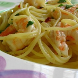 Shrimp and Angel Hair Pasta