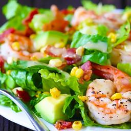 Shrimp, Avocado & Roasted Corn Salad