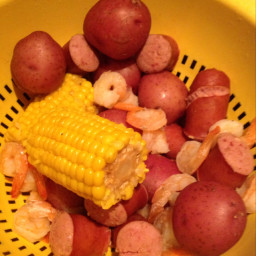 Shrimp, Potato and Corn Boil
