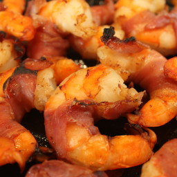 Shrimp- Prosciutto-wrapped